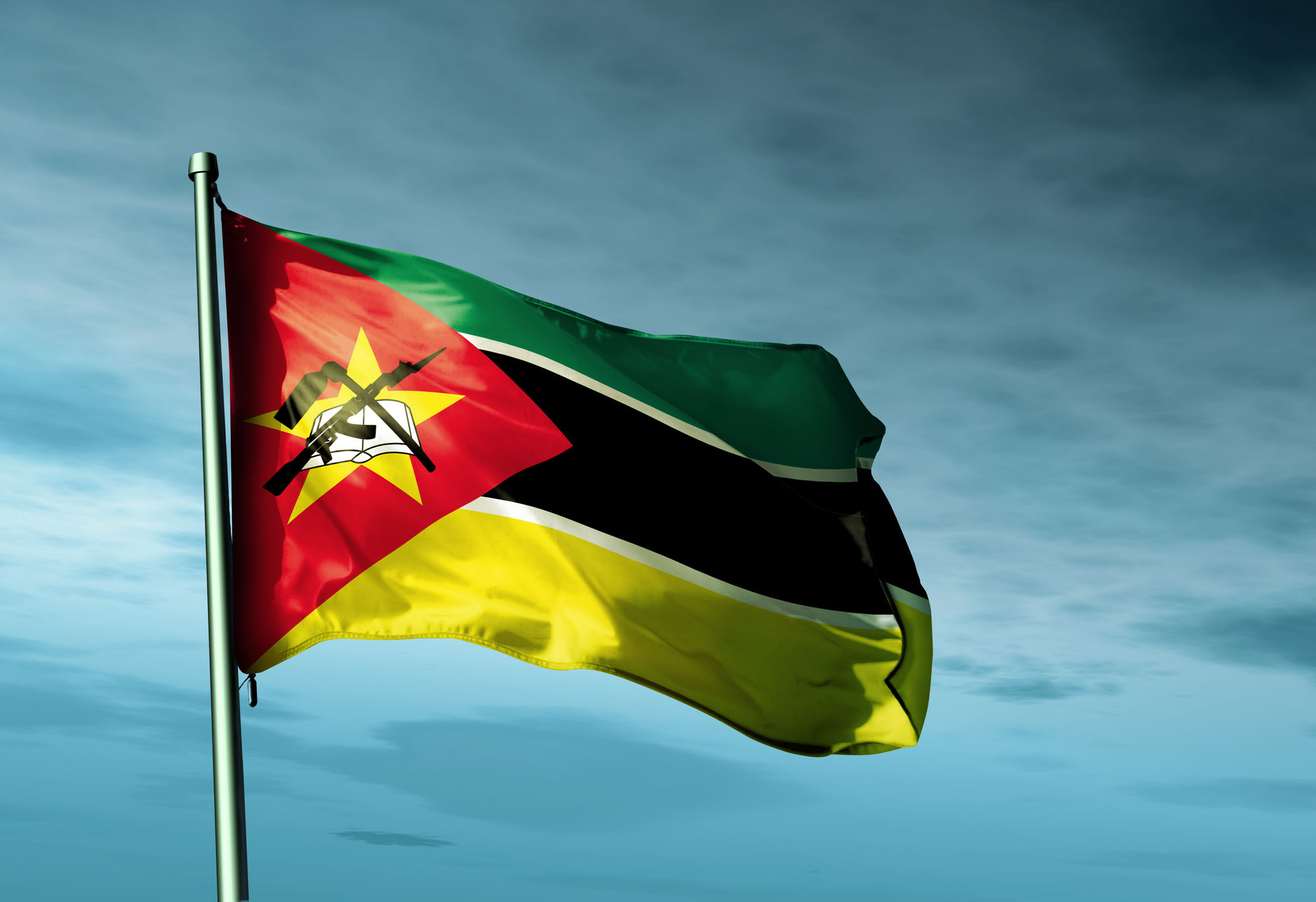 Mozambique flag waving on the wind | Frontera