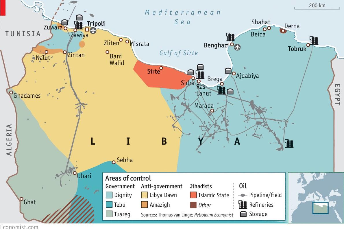libyaoilmap Frontera